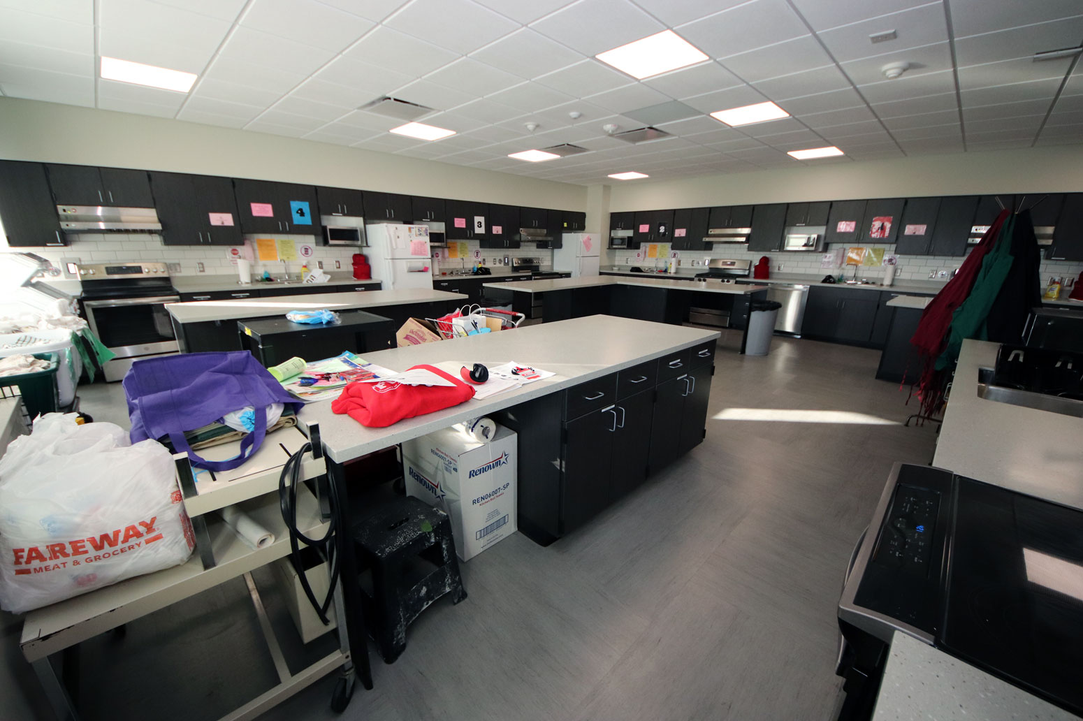 <b>Renovation of the Family & Consumer Science classroom at Shenandoah High School was made possible using money saved on the HVAC system. </b>(CANCO photo)