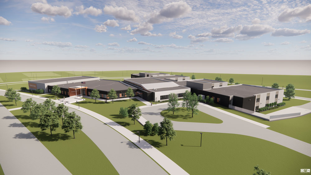 OPN Architects rendering; Provided by College CSD