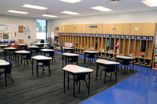 New elementary school classroom, Danville Elementary, construction management agency project