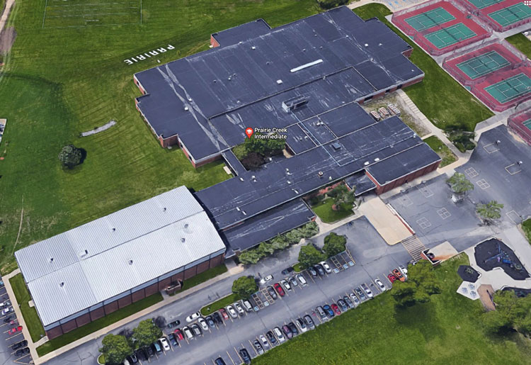 Google Maps screen capture of Prairie Creek Intermediate School